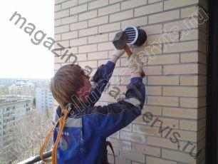 Монтаж приточного клапана КПВ-125 или КИВ-125